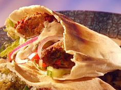 Falafel in Pita with Yogurt Sauce Recipe
