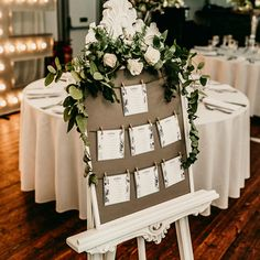 Wedding Table Plan Ideas and Inspiration. Using a combination of grey, green, silver and natural leaves and ferns.  Wedding Stationery: Part of the 'DUSTY MILLER' collection by Paper Date.  Photography: Liga Stevenson Photography   Decor and Flowers: Lumi Event Design   Candles: Flamingo Candles