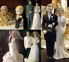 Image result for vintage wedding toppers