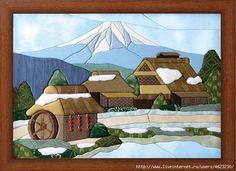 Applique Patterns, Applique Quilts, Applique Designs, Quilt Patterns, House Quilt Block, House Quilts, Sue Sunbonnet, Japan Crafts, Japanese Quilts