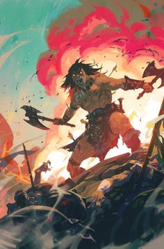 """Conan The Barbarian 13 Variant PROCESS Out today at your local comic shop! Fantasy Character Design, Character Art, Character Concept, Dark Fantasy, Fantasy Art, Fantasy Landscape, Fanart, Conan The Barbarian, Sword And Sorcery"