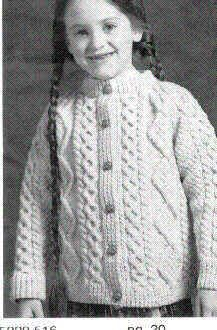 Child S Irish Cardigan Free Knit Pattern Needs To Be Converted To Crocheting For Me Free Aran Knitting Patterns Knitting Girls Knit Cardigan Pattern