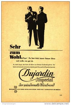Original-Werbung/Inserat/ Anzeige 1950 - 1/1-SEITE - DUJARDIN IMPERIAL WEINBRAND  - ca. 240 x 160 mm