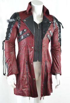Punk- /Gothic –Gehrock Witch Hunter in rot-schwarz