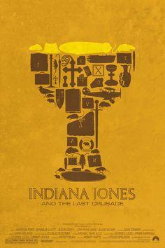 Pôster minimalista de Indiana Jones