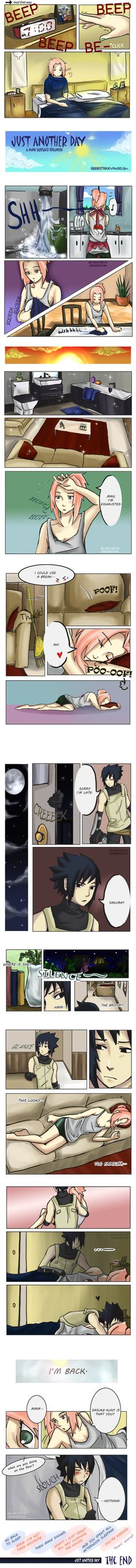 Just Another Day: SasuSaku Doujin by HorrorSection.deviantart.com on @deviantART