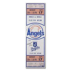 "Mounted Memories Los Angeles Angels of Anaheim Reggie Jackson Autographed 1984 Mega Ticket w/ ""500 Homerun"" Inscription - MLB.com Shop"