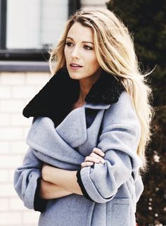 Blake Lively | Winter Gray + Blues