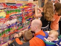 ART SHOW=Friendly Loom. Used to have this giant loom in my classroom - the kids loved it!