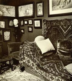 1938 - El gabinete de psicoanálisis de Sigmund Freud en Viena