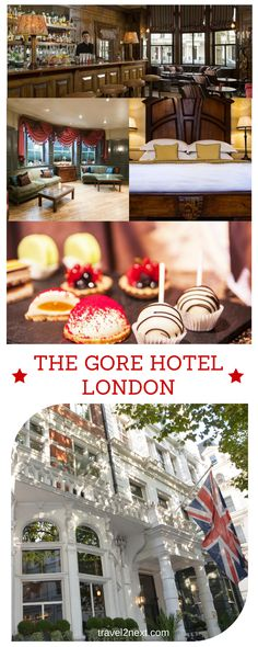 The Gore Hotel London. When staying at The Gore Hotel in London, Duke and Duchess of Cambridge are your neighbours as this century-old hotel nestles pretty close to the Kensington Palace, the official residence of Prince William and Kate Middleton. Family Hotels London, London Hotels, Hotel Safe, London Museums, Travel Reviews, Great Hotel, London Life, Hotel Deals, Prince William