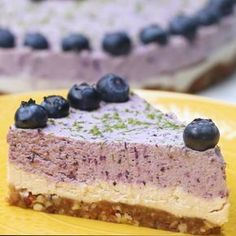 """Dairy-Free Blueberry Lime """"Cheesecake"""""""