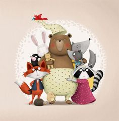 animals group Hrkalo / Snorybear, picture book by Jelena Brezovec, via Behance Tatty Teddy, Children's Picture Books, Happy B Day, Kids Prints, Birthday Images, Happy Birthday Cards, Birthday Wishes, Children's Book Illustration, Cute Drawings