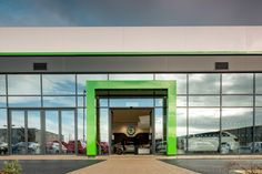 Bisset Adams' car showroom architecture and interiors for Skoda, Bridgwater, Exeter.