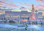 Title: Winter Lights, Buckingham Palace, Artist Name: Richard Harpum, Medium: Acrylic paint