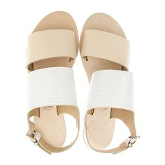 Sol Sana Camila Sandal ($62) ❤ liked on Polyvore featuring shoes, sandals, flats, flat sandals, alligator sandals, flat heel shoes, flats sandals y flat shoes