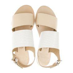 Sol Sana Camila Sandal ($62) ❤ liked on Polyvore featuring shoes, sandals, flats, flat sandals, flat shoes, flats sandals, flat heel shoes and alligator shoes