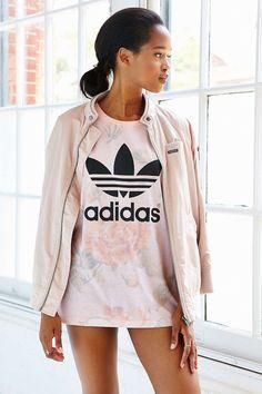 adidas Originals Pastel Rose Tee - Urban Outfitters