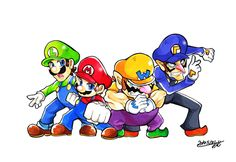 Mario and Wario Bros by Homme