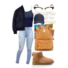 A fashion look from December 2016 featuring Studio Concrete jackets, UGG ankle booties and MCM backpacks. Browse and shop related looks.