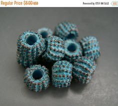 SALE NEW ITEM Naos Mykonos Beads Greek Beads Rondelle by Na0sGlass