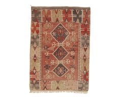 "VINTAGE ANATOLIAN KILIM IN DUSTY ROSE 3'5"" x 5' 