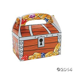 Treasure Chest Treat Boxes - Jake and the Neverland Pirate party