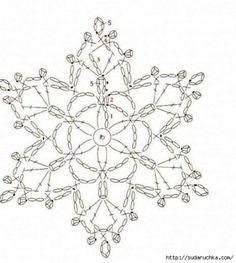 Helen's Home Helen's World: crochet Crochet Snowflake Pattern, Crochet Stars, Crochet Motifs, Crochet Snowflakes, Crochet Diagram, Christmas Snowflakes, Crochet Doilies, Crochet Flowers, Crochet Stitches