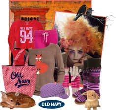 """""""Style That Sweater with Old Navy"""" by iggy-rouvinen ❤ liked on Polyvore"""