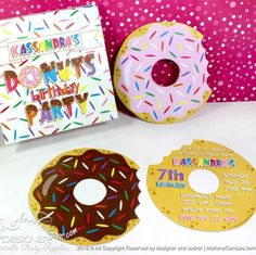 Mmm Donuts!! Printable and custom Donut Invitation, perfect for any event.