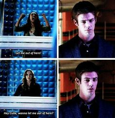 Look at Barry's face!!!! Snowbarry Caitlin and Barry The Flash.