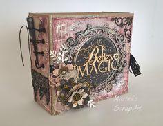 Άρωμα Δαντέλας Mini Scrapbook Albums, Mini Albums, Scrapbook Pages, Paper Bag Books, Handmade Journals, Book Images, Hobbies And Crafts, Scrapbooks, Creations