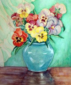 Painted By Adolf Hitler... totally weird to think of Hitler painting flowers...