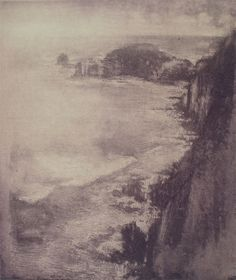 The Cape in Summer by Justin McShane - Printmaker - Tasmanian artist