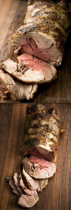 Roast Leg of Lamb ~ Classic roast leg of lamb recipe.  Leg of lamb marinated in a citrus rosemary marinade, then oven seared and slow roasted. ~ SimplyRecipes.com