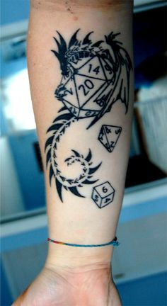 Dungeons and Dragons Tattoo 2 by ~DragonLadyCels on deviantART