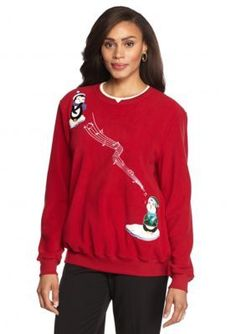 Alfred Dunner  Petite Classics Penguin Knit Top