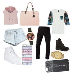 """""""Me and bae """" by alyshakay on Polyvore featuring beauty, adidas, WithChic, Vans, MICHAEL Michael Kors, Casetify, Olivia Burton, Insight 51, 3x1 and Timberland"""