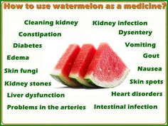 Watermelon as Medicine - Health Benefits Cleaning Kidneys Kidney Infection Constipation Dysentery Diabetes Vomiting Edema Gout Kidney Stones...