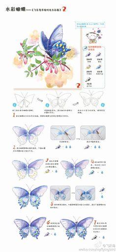水彩蝴蝶——绘画教程