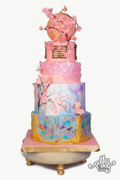 Pantone Wedding Cake by Mrudula  - http://cakesdecor.com/cakes/246977-pantone-wedding-cake