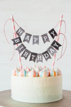 Pretty Cake Merengue Recipes Party Cakes Happy Birthday Simple
