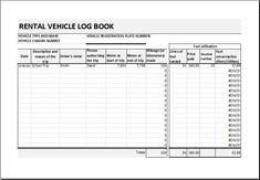 Vehicle Mileage Log Book Download At HttpWwwXltemplatesOrg