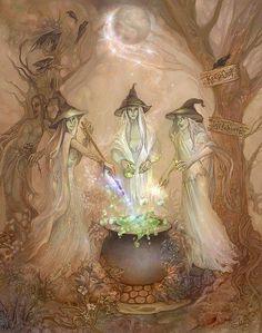 around the cauldron...