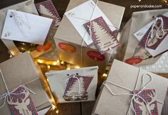 Rustic Plaid Holiday Baked Goods Packaging