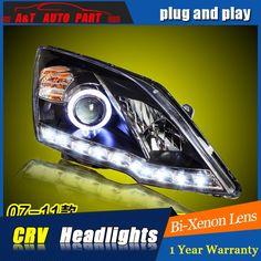 547.28$  Watch here - http://ali8lx.worldwells.pw/go.php?t=32752310643 - A&T Car Styling For Honda CRV headlights 2007-2011 For CRV LED head lamp Angel eye led DRL front light Bi-Xenon Lens xenon HID