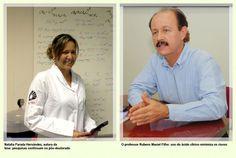 Natalia Parada Hernández, autora da tese: pesquisas continuam no pós-doutorado, e o professor Rubens Maciel Filho: uso do ácido cítrico minimiza os riscos