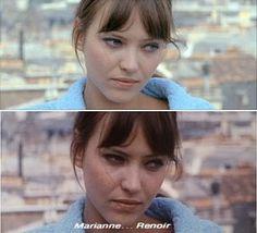 Pierrot le fou is a 1965 film directed by Jean-Luc Godard, starring Anna Karina and Jean-Paul Belmondo.