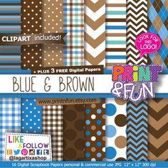 https://www.etsy.com/mx/listing/225790775/fondos-digitales-papel-digital #cookiemonster #chipchocolate #chocolatecookie #blue #brown #babyboy #itsaboy #babyshower
