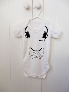Gaming Baby Grow // Baby Onesie // Xbox // Playstation// Geek Baby // Baby Bodysuit // Baby Vest on Etsy, $11.06